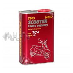 Масло   2T, 1л   ж/б   (синтетика, 7805 Scooter 2-Takt Premium API TC+)   MANNOL
