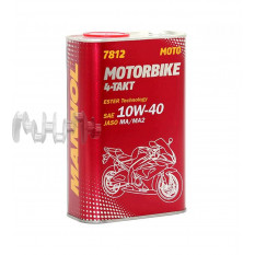 Масло 4T, 1л ж / б (SAE 10W-40, 7812 Motorbike 4-Takt API SL) MANNOL арт.M-774