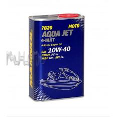 Масло 4T, 1л ж / б (SAE 10W-40, 7820 Aqua Jet 4-Takt API SL) MANNOL арт.M-777