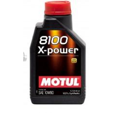 Масло автомобильное, 1л   (синтетика, 10W-60, 8100 X-POWER)   MOTUL   (#106142)