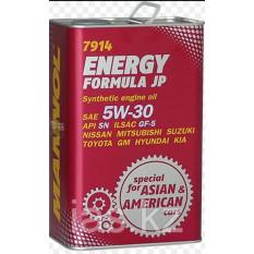 Масло автомобильное, 1л   ж/б   (SAE 5W-30, синтетика, Energy Formula JP API SL)   MANNOL