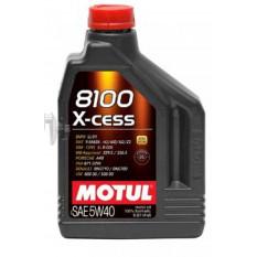 Масло автомобильное, 2л   (синтетика, 5W-40, 8100 X-CESS)   MOTUL   (#102869)