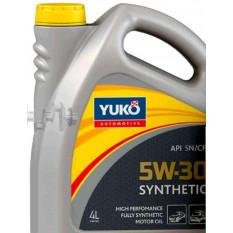 Масло автомобильное, 4л   (SAE 5W-30, SUPER SYNTHETIC, API SN/CF, ACEA C3)   YUKO