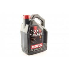 Масло автомобильное, 4л   (синтетика, 10W-40, 4100 Turbolight)   MOTUL   (#100355)