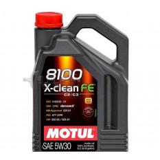 Масло автомобильное, 4л   (синтетика, 5W-30, 8100 X-CLEAN FE)   MOTUL   (#104776)