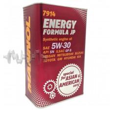 Масло автомобильное, 4л   ж/б   (SAE 5W-30, синтетика, Energy Formula JP API SL)   MANNOL