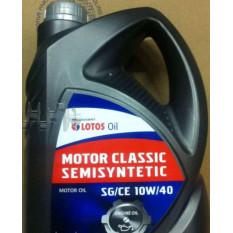 Масло автомобильное, 5л   (SAE 10W-40, полусинтетика, MOTOR CLASSIC SEMISYNTETIC SG/CE)   LOTOS   (#