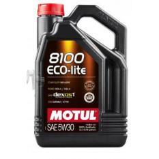 Масло автомобильное, 5л   (синтетика, 5W-30, 8100 ECO-LITE)   MOTUL   (#108214)