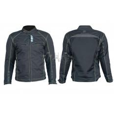 Мотокуртка   (кожзам) (черная, усиление на плечах, груди size XL)