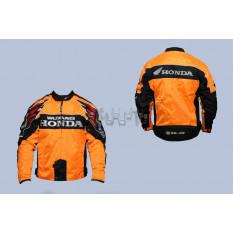 Мотокуртка   HONDA   (текстиль) (size:L, оранжево-черная)