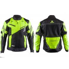 Мотокуртка   SCOYCO   (текстиль) (size:XL, черно-зеленая, mod:JK36)