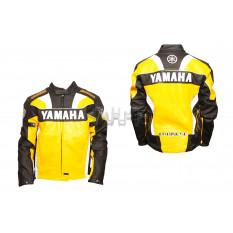 Мотокуртка   YMH   (кожзам) (size:XXXL, желтая)
