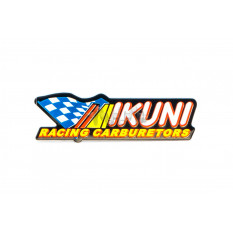 Наклейка   MIKUNI  (12х3см)