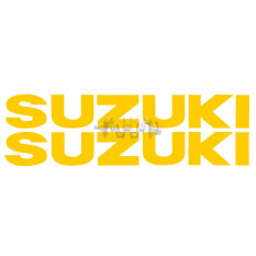 Наклейка   буквы   SUZUKI   (19х5см, 2шт, желтые)   (#HCT10001)
