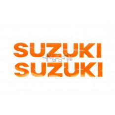 Наклейка   буквы   SUZUKI   (19х5см, 2шт, оранжевый)   (#HCT10001)