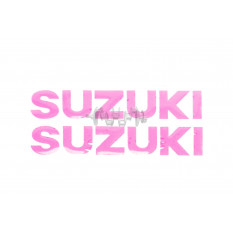 Наклейка   буквы   SUZUKI   (19х5см, 2шт, розовый)   (#HCT10001)