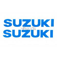 Наклейка   буквы   SUZUKI   (19х5см, 2шт, синий)   (#HCT10001)