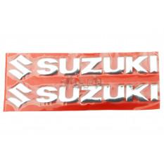 Наклейка   буквы   SUZUKI   (20х6см, 2шт, хром)   (#4752)
