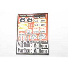 Наклейки (набір) спонсори, мультибренд (28х22см) (5983) арт.N-1557
