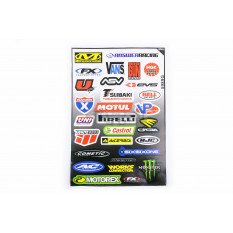 Наклейки (набор)   спонсоры, мультибренд   (30х45см)   (#5989G)