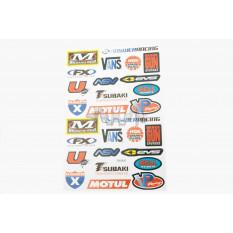 Наклейки (набор)   спонсоры, мультибренд   (32х22см)   (#5996K)