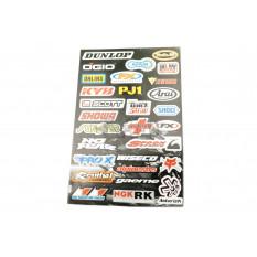 Наклейки (набор)   спонсоры, мультибренд   (44х30см)   (#5991B)