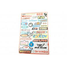 Наклейки (набор)   спонсоры, мультибренд   (45х30см)   (#5991)
