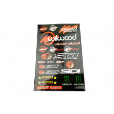 Наклейки (набор)   спонсоры, мультибренд   (45х30см)   (#5991E)
