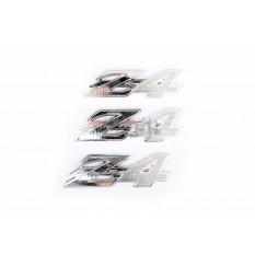 Наклейки (набір) шильдики Honda DIO Z4 (12х3см, 3шт, пластик, хром) (4975) арт.N-714