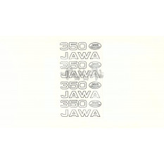Наклейки (набор)   ЯВА   (33х22см, белые)   SEA