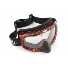 Очки кроссовые   (mod:M-81A7, прозрачное стекло)
