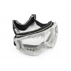 Очки кроссовые   (mod:MJ-1017, серые, прозрачное стекло)