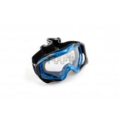 Очки кроссовые   (mod:MJ-72, синие с прозрачным стеклом)