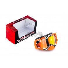 Очки кроссовые   VEMAR   (оранжевые, стекло темное)