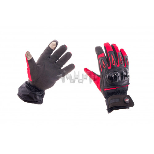 Перчатки   (красно-черные, size L) с накладкой на кисть
