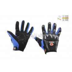 Перчатки   SCOYCO   (mod:MC-09, size:L, синие, текстиль)