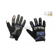 Перчатки   SCOYCO   (mod:MC-20, size:XL, синие, текстиль)