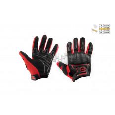 Перчатки   SCOYCO   (mod:MC-23, size:L, красные, текстиль)