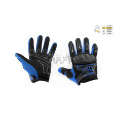 Перчатки   SCOYCO   (mod:MC-23, size:M, синие, текстиль)