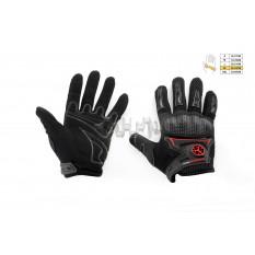 Перчатки   SCOYCO   (mod:MC-23, size:XL, черные, текстиль)