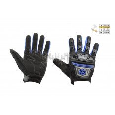 Перчатки   SCOYCO   (mod:MC-24, size:M, синие, текстиль)