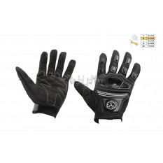 Перчатки   SCOYCO   (mod:MC-24, size:M, черные, текстиль)