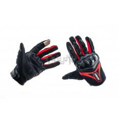 Перчатки   SUOMY   (черно-красные size M)