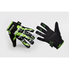 Перчатки   THOR   (size:XL, черно-зеленые)