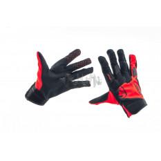 Перчатки   THOR   (черно-красные, size XL)