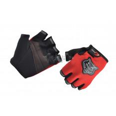 Перчатки без пальцев   (mod:002, size:L, красные)   KNIGHTOOD