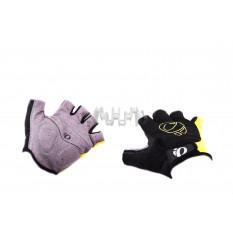 Перчатки без пальцев   (mod:1,  size:L, черно-желтые)   IP