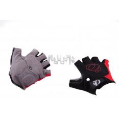 Перчатки без пальцев   (mod:1, size:L, черно-красные)   IP