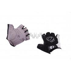 Перчатки без пальцев   (mod:1, size:XL, черно-белые)   IP