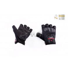 Перчатки без пальцев   (mod:MC-12D, size:M, черные, текстиль)   SCOYCO